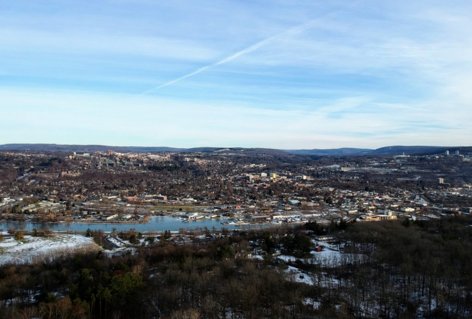Ithaca Winter Aerial